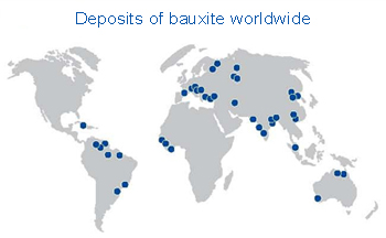 where can bauxite be found